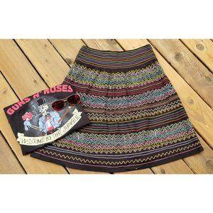Vintage Boho Vibes Embroidered Midi Skirt 6